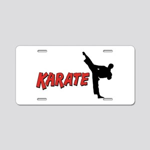 Karate Gifts Aluminum License Plate