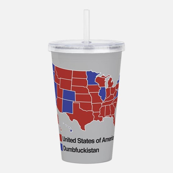 Map of Dumbfuckistan Acrylic Double-wall Tumbler