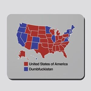 Map of Dumbfuckistan Mousepad