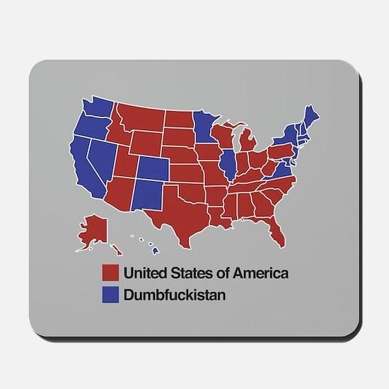 Map of Dumbfuckistan Mousepad