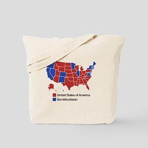 Map of Dumbfuckistan Tote Bag