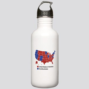 Map of Dumbfuckistan Water Bottle