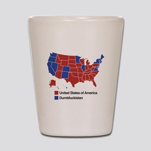 Map of Dumbfuckistan Shot Glass