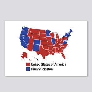 Map of Dumbfuckistan Postcards (Package of 8)