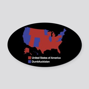 Dumbfuckistan Oval Car Magnet