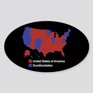 Dumbfuckistan Sticker (Oval)