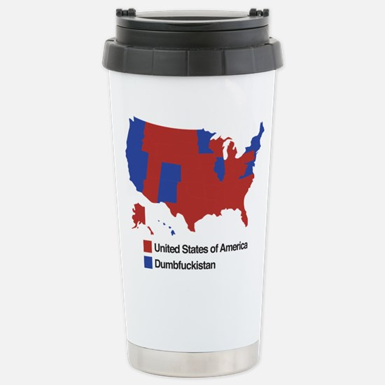 Dumbfuckistan Stainless Steel Travel Mug