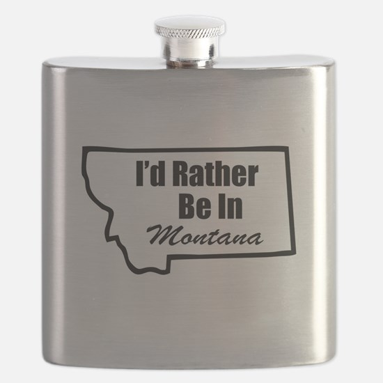I'd Rather Be In Montana Flask
