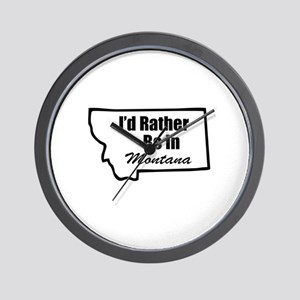 I'd Rather Be In Montana Wall Clock