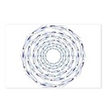 Flying Fish Ring Pattern Postcards (Package of 8)