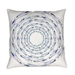 Flying Fish Ring Pattern Everyday Pillow