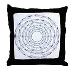 Flying Fish Ring Pattern Throw Pillow