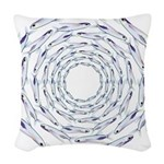 Flying Fish Ring Pattern Woven Throw Pillow