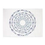 Flying Fish Ring Pattern 5'x7'Area Rug