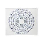 Flying Fish Ring Pattern Throw Blanket