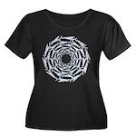 Flying Fish Ring Pattern Plus Size T-Shirt