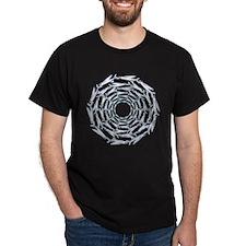 Flying Fish Ring Pattern T-Shirt