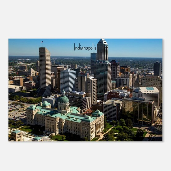 Cute Indianapolis skyline Postcards (Package of 8)