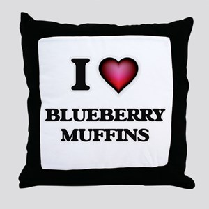I love Blueberry Muffins Throw Pillow