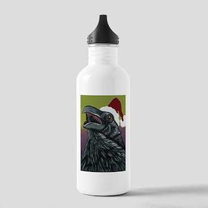 Christmas Crow Raven Bird Wildlife Art-Carla Smale