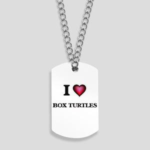 I love Box Turtles Dog Tags