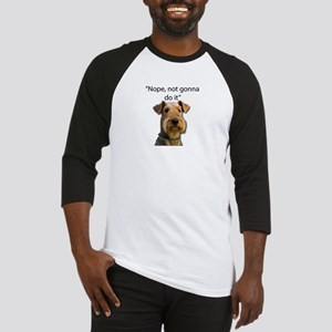 Airedale Terrier Stubborn Sayings Baseball Jersey