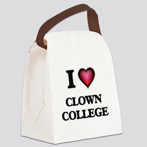 I love Clown College Canvas Lunch Bag