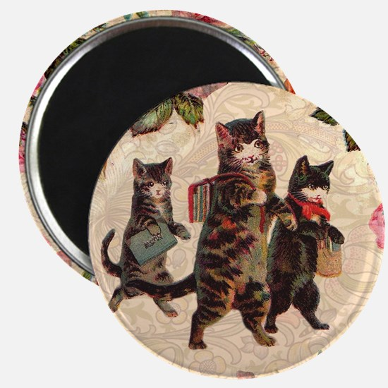 Cat Vintage Kitten Pretty Antique Magnets