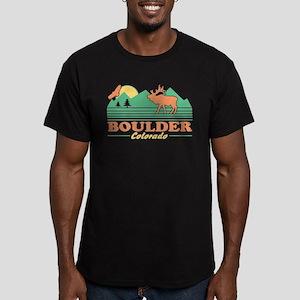 Boulder Colorado Men's Fitted T-Shirt (dark)