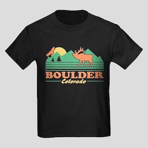 Boulder Colorado Kids Dark T-Shirt