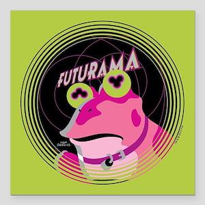 "Futurama Hypnotoad Square Car Magnet 3"" x 3"""
