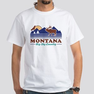 Montana Big Sky Country White T-Shirt