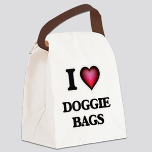 I love Doggie Bags Canvas Lunch Bag