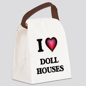 I love Doll Houses Canvas Lunch Bag