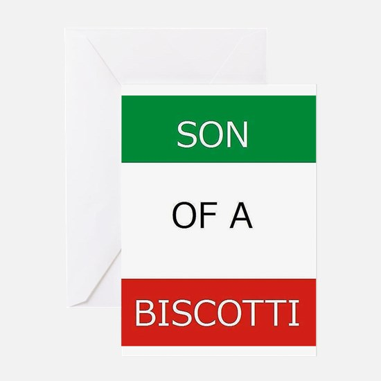 Son of a Biscotti Greeting Cards