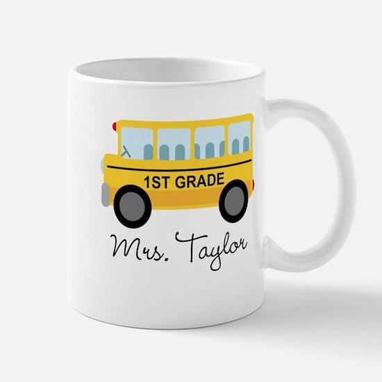 Personalized 1st Grade Teacher Mugs