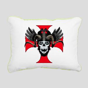 Ram skull 3 tw Rectangular Canvas Pillow