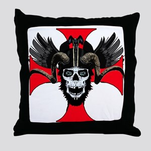 Ram skull 3 tw Throw Pillow