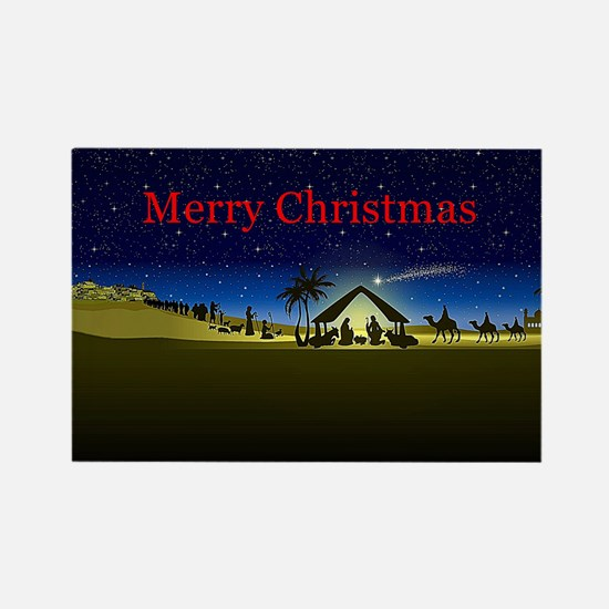 Nativity Merry Christmas Magnets