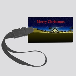 Nativity Merry Christmas Luggage Tag