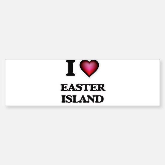 I love Easter Island Bumper Bumper Bumper Sticker