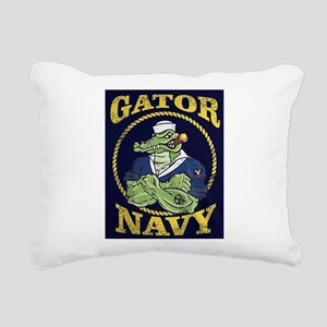 The Gator Navy Rectangular Canvas Pillow