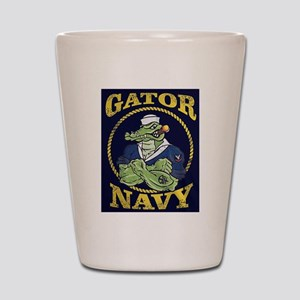 The Gator Navy Shot Glass