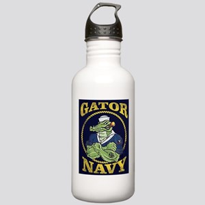The Gator Navy Water Bottle
