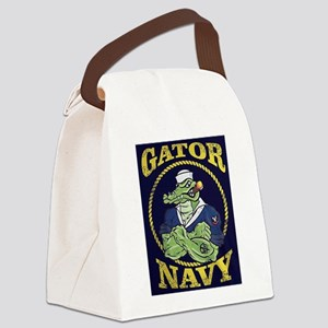 The Gator Navy Canvas Lunch Bag