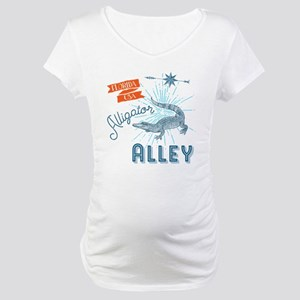 Alligator Alley Florida Everglad Maternity T-Shirt