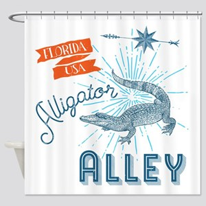 Alligator Alley Florida Everglades Shower Curtain
