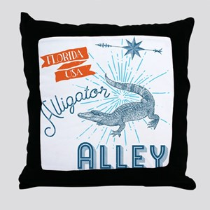 Alligator Alley Florida Everglades Throw Pillow