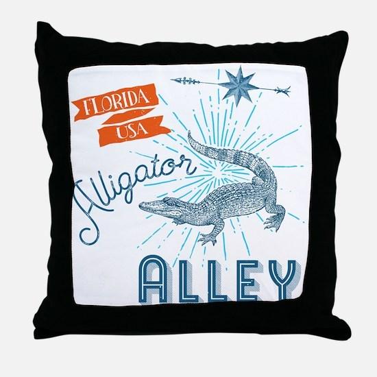 Alligator Alley Florida Everglades Throw Pillow