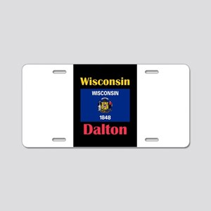 Dalton Wisconsin Aluminum License Plate